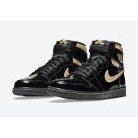 Boty Kotníkové tenisky Nike Jordan 1 Black Metallic Gold Black/Black-Metallic Gold