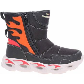 Boty Děti Zimní boty Skechers S Lights-Thermo-Flash - Heat Storm black-red Černá