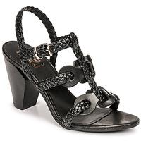 Boty Ženy Sandály Mimmu TRECCIA-P-NERO Černá