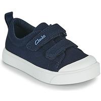 Boty Děti Nízké tenisky Clarks CITY BRIGHT T Tmavě modrá