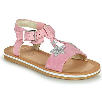 Boty Dívčí Sandály Clarks FINCH SUMMER K Růžová