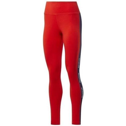 Textil Ženy Legíny Reebok Sport TE Linear Logo CT L Červené