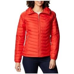 Textil Ženy Bundy Columbia WM Powder Lite Hooded Jacket Červené