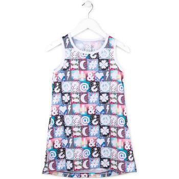 Textil Dívčí Krátké šaty Losan 714 7001AB Růžový