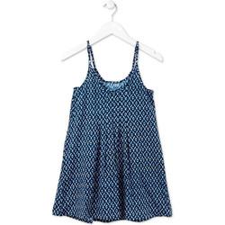 Textil Dívčí Krátké šaty Losan 714 7017AB Modrý
