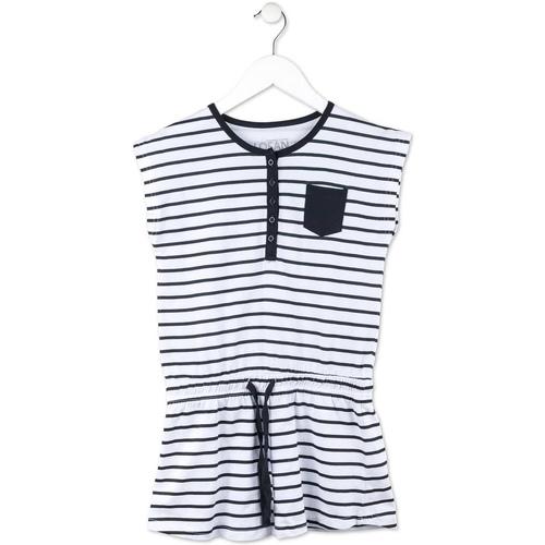 Textil Dívčí Krátké šaty Losan 714 7044AB Modrý