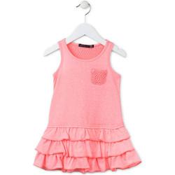 Textil Dívčí Krátké šaty Losan 716 7009AD Růžový