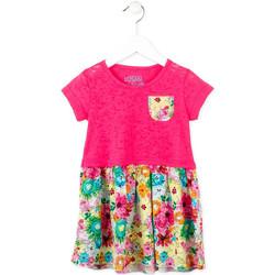 Textil Dívčí Krátké šaty Losan 716 7017AD Růžový