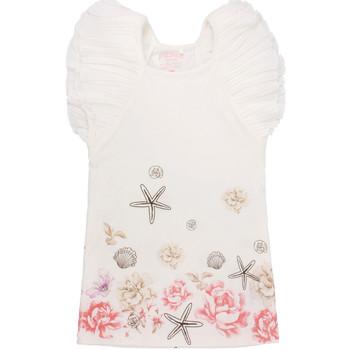 Textil Dívčí Krátké šaty Primigi 37113571 Bílý