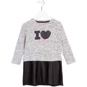 Textil Dívčí Krátké šaty Losan 726 7014AD Šedá