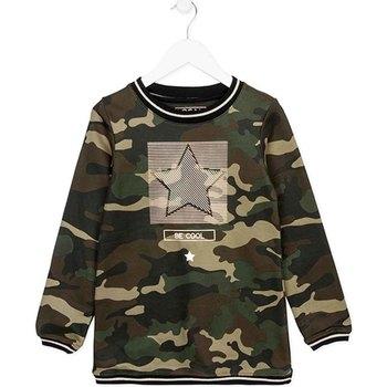 Textil Dívčí Krátké šaty Losan 724 7012AB Zelený