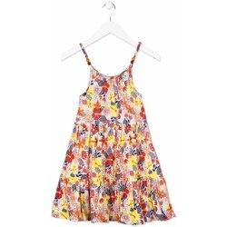 Textil Dívčí Krátké šaty Losan 814-7028AB Oranžový