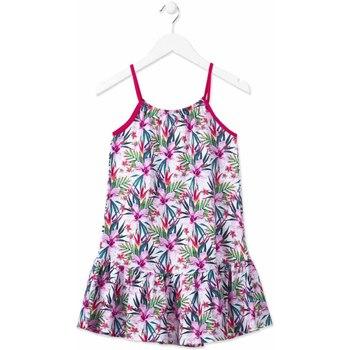 Textil Dívčí Krátké šaty Losan 814-7043AB Růžový