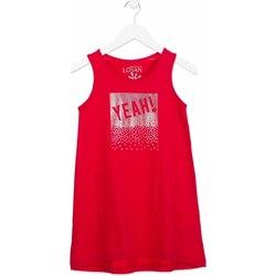Textil Dívčí Krátké šaty Losan 814-7300AB Růžový