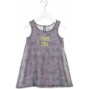 Textil Dívčí Krátké šaty Losan 816-7033AD Šedá