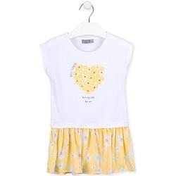 Textil Dívčí Krátké šaty Losan 016-7021AL Bílý