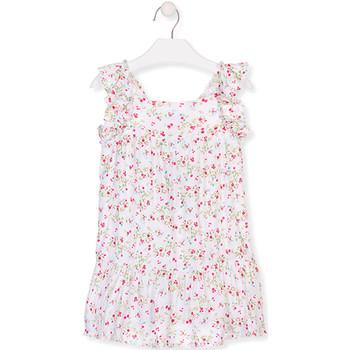 Textil Dívčí Krátké šaty Losan 016-7031AL Bílý