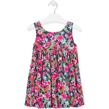 Textil Dívčí Krátké šaty Losan 016-7036AL Růžový