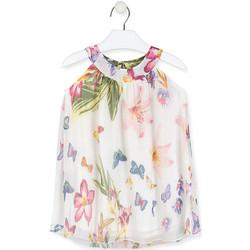 Textil Dívčí Krátké šaty Losan 016-7793AL Bílý
