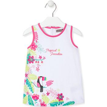 Textil Dívčí Krátké šaty Losan 018-7005AL Bílý