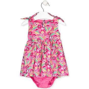 Textil Dívčí Šaty Losan 018-7006AL Růžový