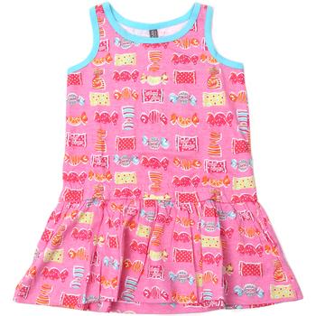 Textil Dívčí Krátké šaty Losan 816-7044AD Růžový