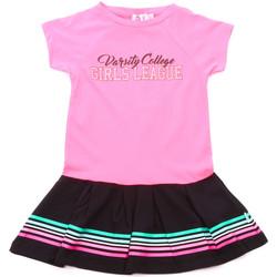 Textil Dívčí Krátké šaty Melby 70A5705 Růžový