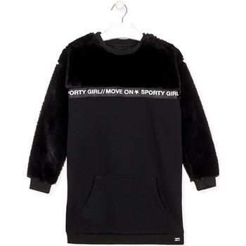 Textil Dívčí Krátké šaty Losan 024-7006AL Černá