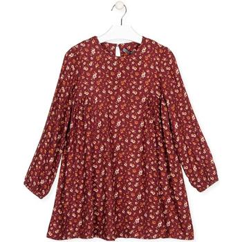 Textil Dívčí Krátké šaty Losan 024-7016AL Červené