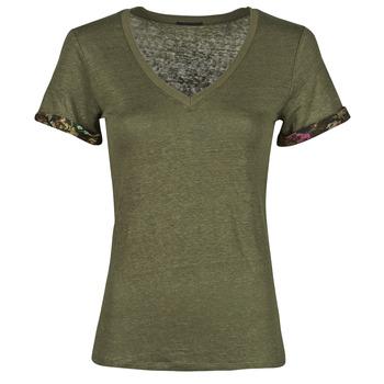 Textil Ženy Trička s krátkým rukávem Ikks BS10255-56 Khaki