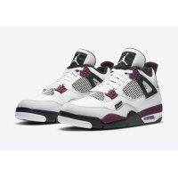Boty Nízké tenisky Nike Air Jordan 4 x PSG White/Neutral Grey-Black-Bordeaux
