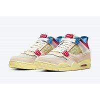 Boty Kotníkové tenisky Nike Jordan 4 x LA Union Guava Guava Ice/Light Bone-Brigade Blue-Light Fusion Red