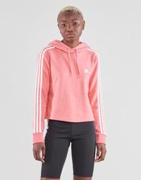Textil Ženy Mikiny adidas Performance W 3S FT CRO HD Růžová