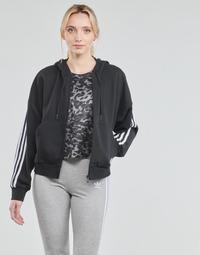 Textil Ženy Teplákové bundy adidas Performance W 3S FZ HD Černá