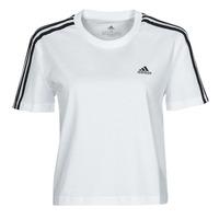 Textil Ženy Trička s krátkým rukávem adidas Performance W 3S CRO T Bílá