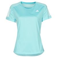 Textil Ženy Trička s krátkým rukávem adidas Performance OWN THE RUN TEE Modrá