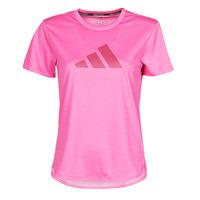 Textil Ženy Trička s krátkým rukávem adidas Performance BOS LOGO TEE Růžová
