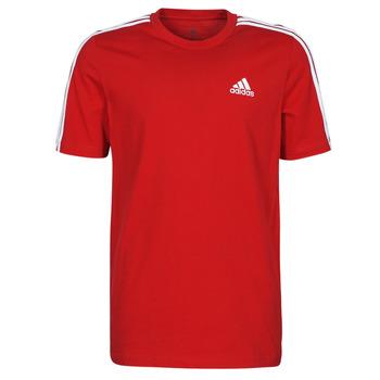 Textil Muži Trička s krátkým rukávem adidas Performance M 3S SJ T Červená