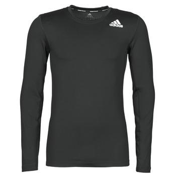 adidas Trička s dlouhými rukávy TF LS - Černá