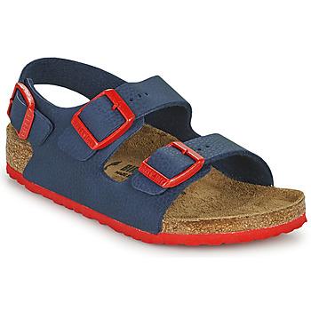 Boty Chlapecké Sandály Birkenstock MILANO Modrá / Červená