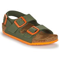 Boty Chlapecké Sandály Birkenstock MILANO Khaki / Oranžová