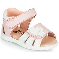 Boty Dívčí Sandály Citrouille et Compagnie OLESS Růžová / Bílá