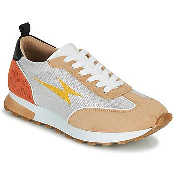 Boty Ženy Nízké tenisky Vanessa Wu BK2268BG Béžová / Žlutá / Oranžová