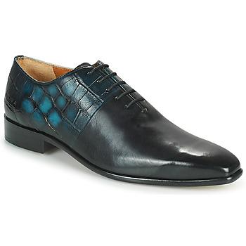 Boty Muži Šněrovací společenská obuv Melvin & Hamilton LANCE 61 Černá / Modrá