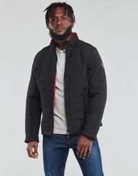 Textil Muži Prošívané bundy Guess  Černá / Oranžová
