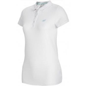 Textil Ženy Polo s krátkými rukávy 4F Womens Polo bílá