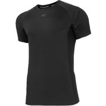 Textil Muži Trička s krátkým rukávem 4F Mens Functional T-shirt černá
