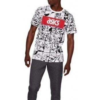 Textil Muži Trička s krátkým rukávem Asics TF M Graphic SS 1 Tee bílá