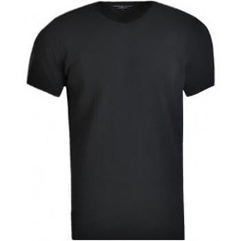 Textil Muži Trička s krátkým rukávem Tommy Hilfiger V-Neck 3 Pack Tee černá