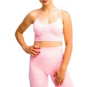 Textil Ženy Sportovní podprsenky Gymhero California Cute Bra růžová